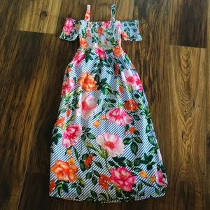 Rare Editions Girls Floral Maxi Dress